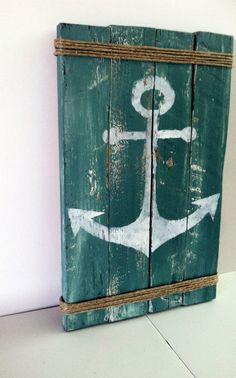 Pallet Anker Schild rustikal See Dekor rustikal von CharmingWillows
