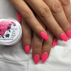 Nagelmodellage mit Farbgel Neon Barbie #Instagram #Nailstagram #Nails #Nagel#Nailart #Naildesign #Chromenails #Nailartclub #manicure #video #tutoral #videos #loveit #diy #colorful #love #lovely #creative #inspiration #Makeup #beauty #kosmetik #naillove #nailstudio #Nailfan #Gelnails #instanails #schönenägel