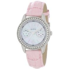 Citizen Women's Pink Leather Strap Eco Drive Watch