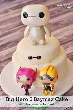 Housewife Eclectic: Big Hero 6 Baymax Cake with Homemade Fondant #BigHero6Release #Ad #Cbias