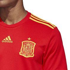 53ae8d015 Amazon.com  adidas Men s FEF Spain Home Soccer Jersey  Clothing Soccer  Equipment