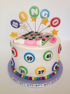 Bingo! - A bingo cake for a bingo night!