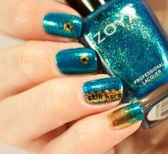 May contain traces of polish: Zoya Charla easy nail art.