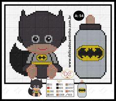 Delicado Cantinho: Gráfico Ponto Cruz Batman Baby