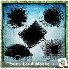 Panda Land Masks by Kastagnette
