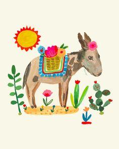Lonesome Donkey by CarolynGavinShop on Etsy