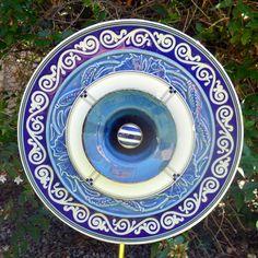 Gotta Love the Blues Yard Art Flower by fantazygardens on Etsy, $30.00