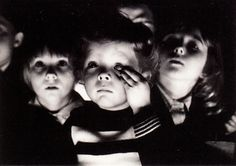 Children watching the movie