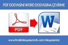 PDF dosyasını herhangi bir program kullanmadan Word dosyasına nasıl dönüştürülür... Logos, School, Logo