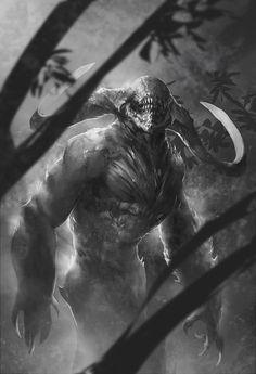 Looks like something from Doom Forest Creatures, Dark Creatures, Mythical Creatures, Fantasy Creatures, Alien Creatures, Monster Art, Monster Design, Fantasy Monster, Monster Sketch