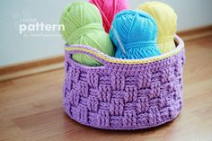 New Pattern – Big Crochet Baskets.