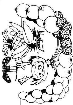 klikni pro další 125/162 Coloring For Kids, Coloring Books, Retro Illustration, Cute Doodles, Baby Time, Art For Kids, Witch, Preschool, Cartoon