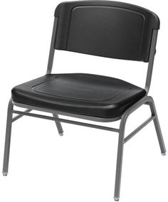 Iceberg 64023 - Rough ''N'' Ready 350 lb. Capacity Big & Tall Stack Chair - Platinum (4-Pack) Sale Price: $459.00