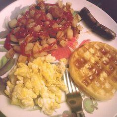 breakfast for dinner.
