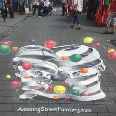 #3dstreetpainting in #Sogel #Germany 2016 #3dart #3dchalkart #MCEscher #Escher