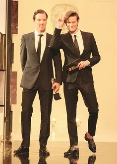 Matt Smith (Eleven) & Benedict Cumberbatch (Sherlock)