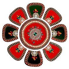 Royal Rangoli Art #Diwali #Rangoli