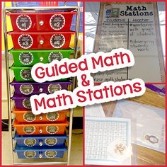 Simply Skilled in Second: Guided Math & Math Stations {Part This is a fantastic post to alleviate some of the fears. I love this storage system. I have a pastel one on order for my classroom. Math Rotations, Math Centers, Numeracy, Center Rotations, Daily 3 Math, Daily 5, Guided Math Groups, Guided Math Stations, Work Stations