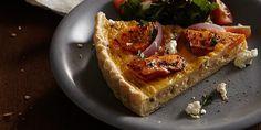 Roast Pumpkin Tart with Caramelized Onion & Fetta Cheese