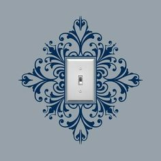 Vinyl Wall Decal, Scroll Damask Light Switch Embellishment- Single, Sticker, Wall Graphic, item 30024 from byrdiegraphics on Etsy. Light Switch Covers, Light Switch Plates, Vinyl Wall Decals, Wall Stickers, Sticker Mural, Home Projects, Diy Home Decor, Stencils, Stencil Diy