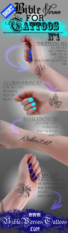 *BEST* SHORT BIBLE VERSES for TATTOOS | Bible Verses For Tattoos
