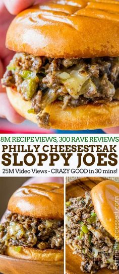 Philly Cheese Steak Sloppy Joes will make you forget your childhood canned sauce memories and make you LOVE sloppy joes again. Philly Cheese Steak Sloppy Joes will make you forget your childhood canned sauce memories and make you LOVE sloppy joes again. Beef Dishes, Food Dishes, Hamburger Meat Dishes, Main Dishes, Philly Cheese Steaks, Philly Cheese Steak Seasoning, Philly Cheese Steak Sandwich Recipe Easy, Grilled Cheese Sloppy Joe, Grilled Cheeses