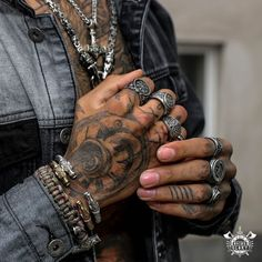 Odins-Glory - Express Yourself With Viking Jewelry Tattoos 3d, Body Art Tattoos, Hand Tattoos For Guys, Big Men Fashion, Beard Tattoo, Viking Jewelry, Fashion Rings, Rings For Men, Rocker Style Men