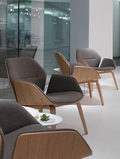 Ginkgo Lounge Low Back Chairs from Davis Furniture #NeoCon2016