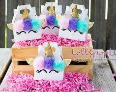 Mini party favors, Unicorn birthday, Unicorn party favor, Birthday, Jewelry box, Candy box, Mini Unicorn party favor set of 10