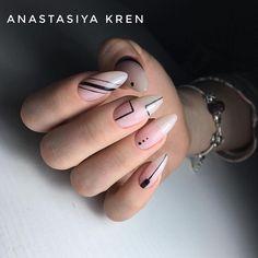 Pretty Nail Designs, Nail Art Designs, Gorgeous Nails, Pretty Nails, Hair And Nails, My Nails, Manicure, Geometric Nail Art, Almond Acrylic Nails