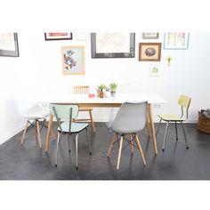 lot de 2 chaises design ormond dsw - Chaise Eleven Patchwork Colors