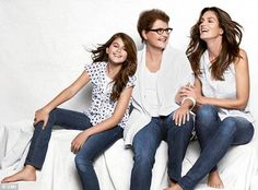 Generations: Cindy's mom, Jennifer, modeled with her daughter and granddaughter in 2012 for JC Penny. Cindy's parents got divorced when Cindy was in her early years