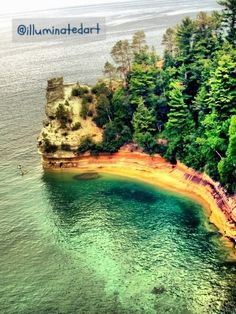 Pictured Rocks National Lakeshore- Miner's Castle (Upper Michigan) stopped here on our honeymoon