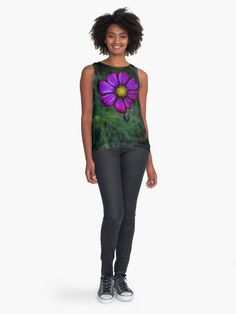 #photography #nature #flowers #flower #petals #floral #purple #autumn #daisy #blossom #redbubble #contrasttank #tshirts