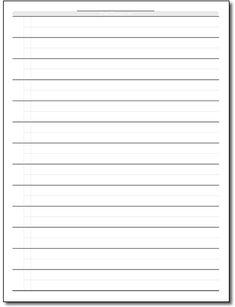 Papel Para Escribir Con Lineas Plantilla Para Escribir Recto