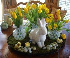 Easter yellow tulips