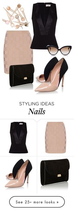 """""""Untitled #2522"""" by styledbycharlieb on Polyvore featuring Balmain, Balenciaga, Miss KG, Mansur Gavriel and Cutler and Gross"""