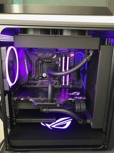 For more pictures visit our website Custom Gaming Computer, Gaming Computer Setup, Best Gaming Setup, Gaming Pc Build, Computer Build, Gaming Pcs, Gaming Room Setup, Pc Setup, Desk Setup