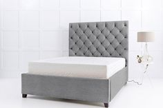Isabella Buttoned Headboard Storage Bed