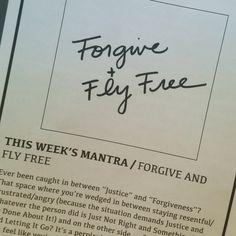 On forgiveness.
