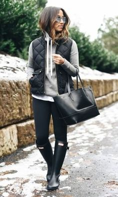 Comfy | Winter | Hunter Boots | Street Style | Fashion