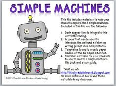 simple machines--great ideas for unit