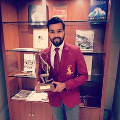 Such an honour to be holding such a prestigious award. Your mind is a powerful thing when you fill it with positive thoughts. Th