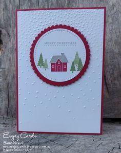 stampin up halloween bridge cards Christmas Cards 2017, Christmas Hearts, Christmas Card Crafts, Homemade Christmas Cards, Stampin Up Christmas, Xmas Cards, Handmade Christmas, Holiday Cards, Christmas Houses