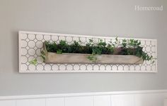 Repurposed Chicken Feeder Planter to hang on the wall www.homeroad.net