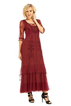 2fe848bcef8 Womens Victoria True Romance Vintage Style Party Dress in Berry Vintage  Inspired Dresses