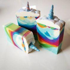 I made unicorn soap! ????