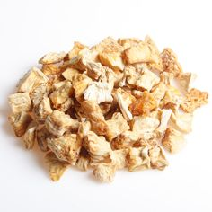 Ananas-chinks - økologisk, naturligvis Sunde snacks til enhver lejlighed. Se de mange nøddetyper på:  http://www.frugtkurven.dk/noeddekurve/Noedderne