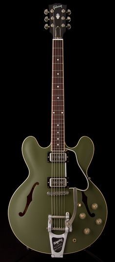 GIBSON Chris Cornell ES-335 in Olive Green   Guitar Center