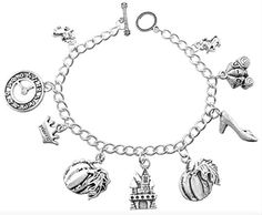 DaisyJewel Cinderella Happily Every After Fairy Tale 7.25 in. Charm Bracelet